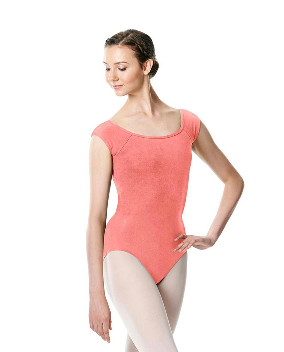 Brushed cotton Cap Sleeve Dance Leotard Dinah PEAC
