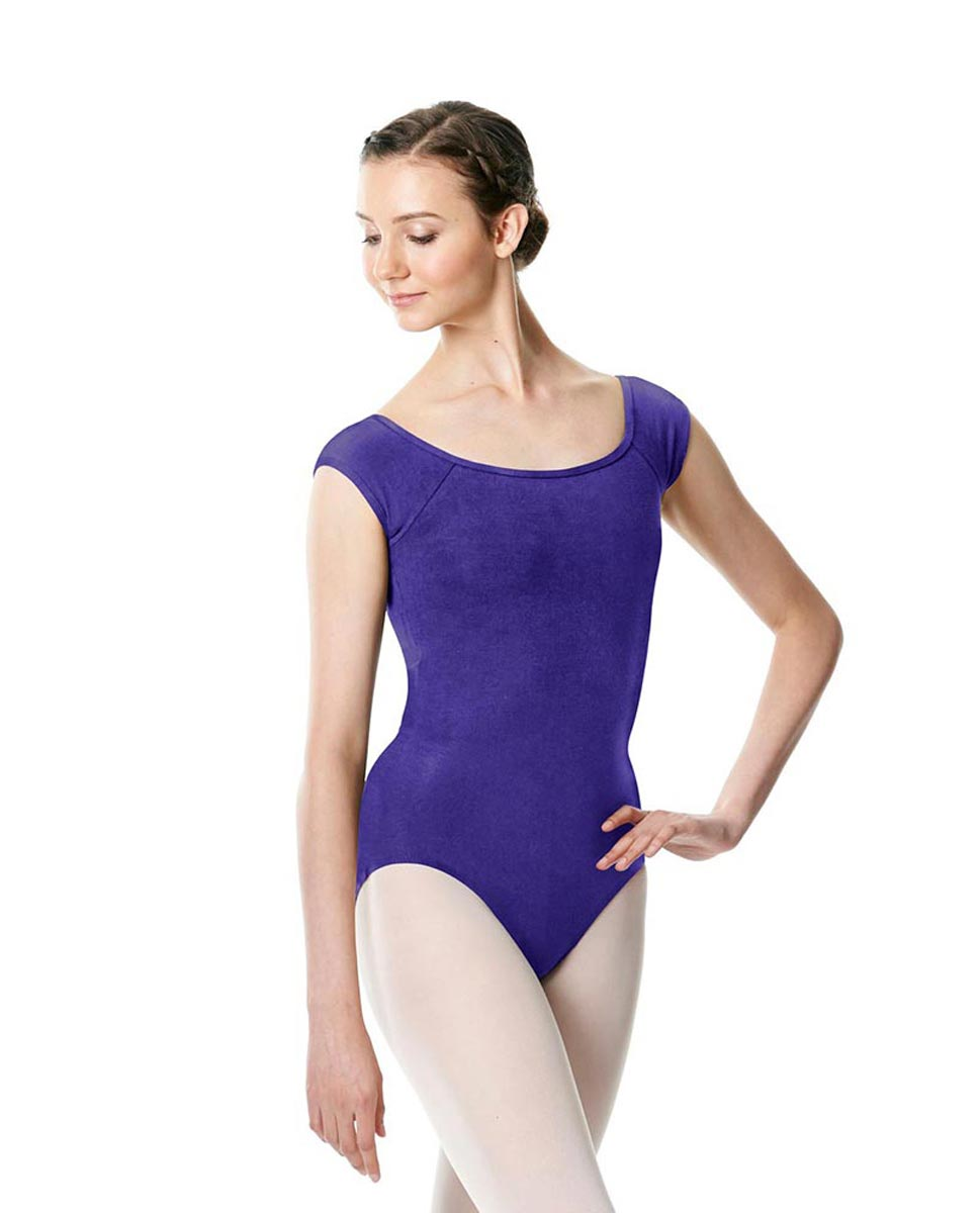 Brushed cotton Cap Sleeve Dance Leotard Dinah ROY