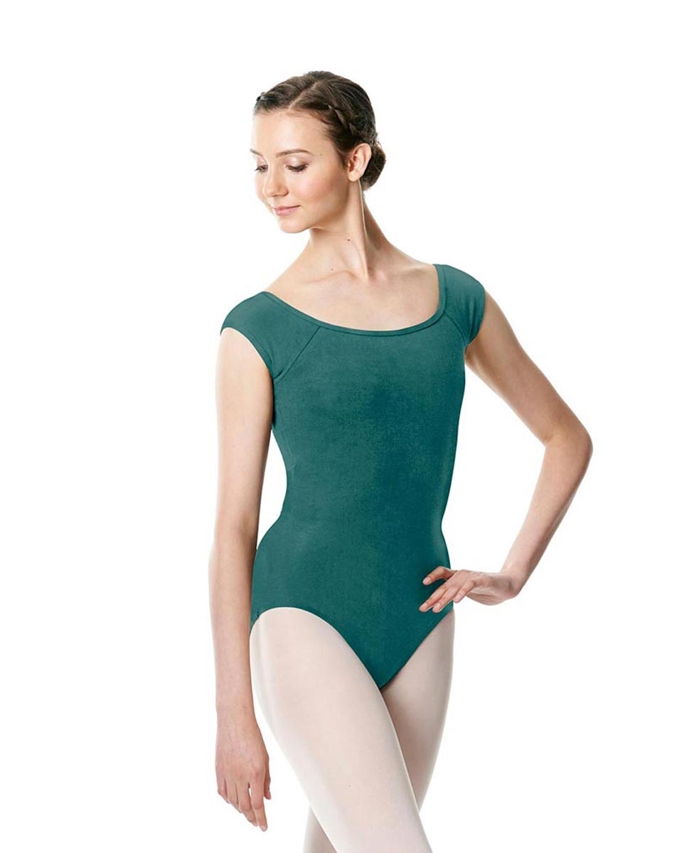 Brushed cotton Cap Sleeve Dance Leotard Dinah TEA