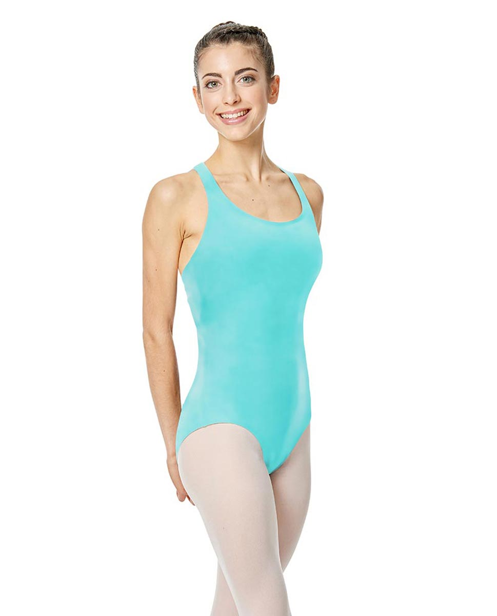 Brushed Cotton Tank Dance Leotard Ember AQU