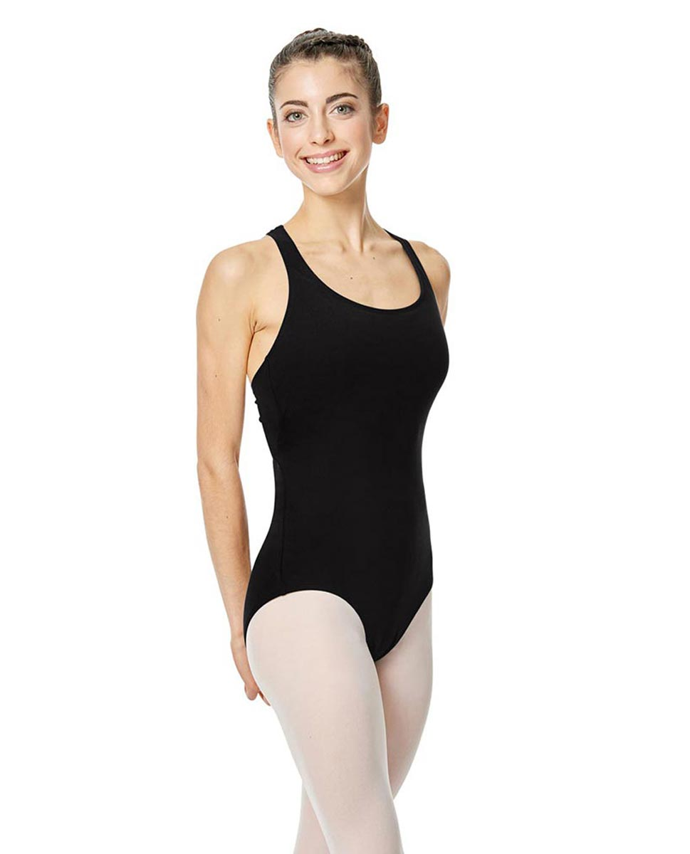 Brushed Cotton Tank Dance Leotard Ember BLK
