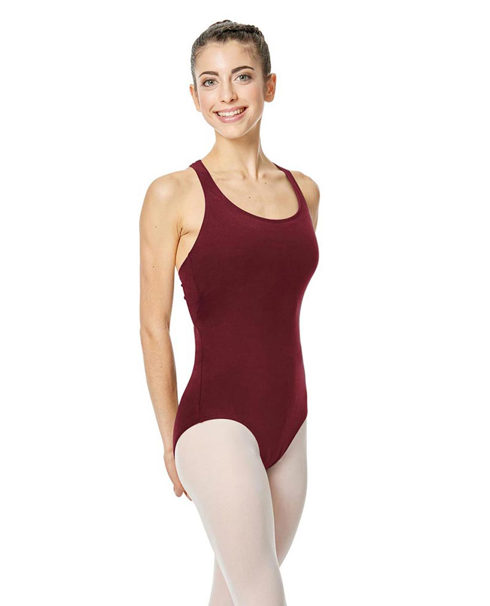 Brushed Cotton Tank Dance Leotard Ember BUR