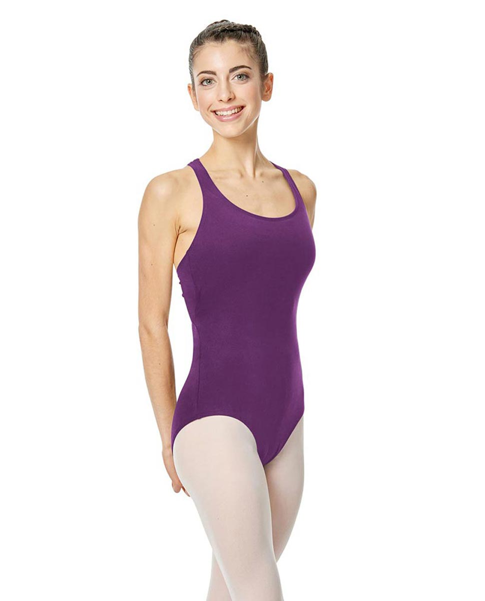 Brushed Cotton Tank Dance Leotard Ember GRAP