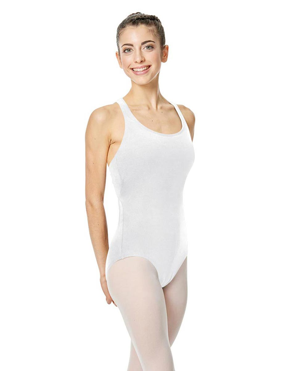 Brushed Cotton Tank Dance Leotard Ember WHI