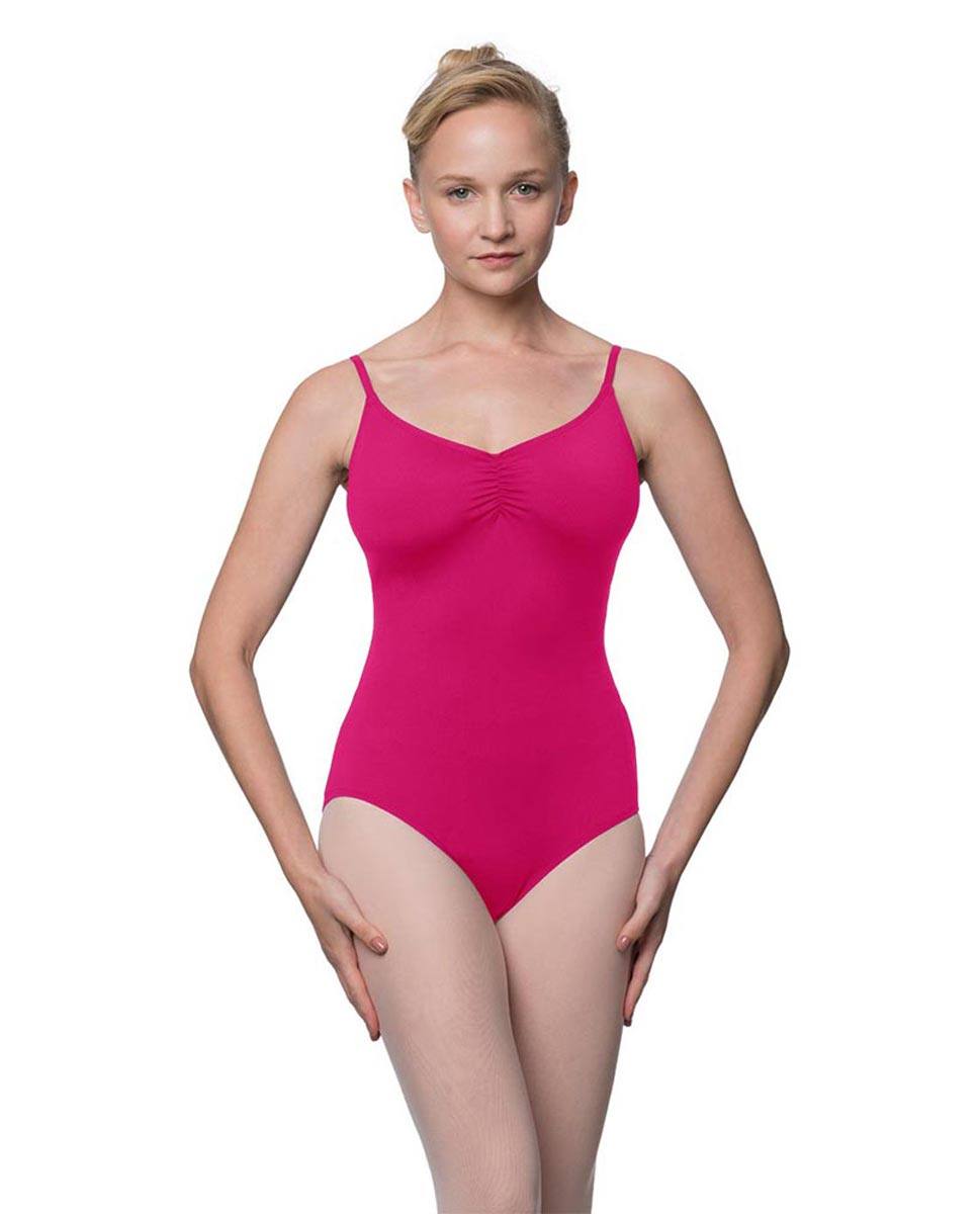 Camisole Microfiber Dance Leotard With Adjustable Straps Nadia FUC