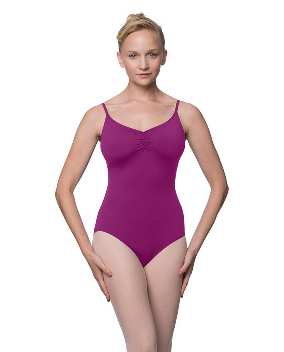Camisole Microfiber Dance Leotard With Adjustable Straps Nadia GRAP