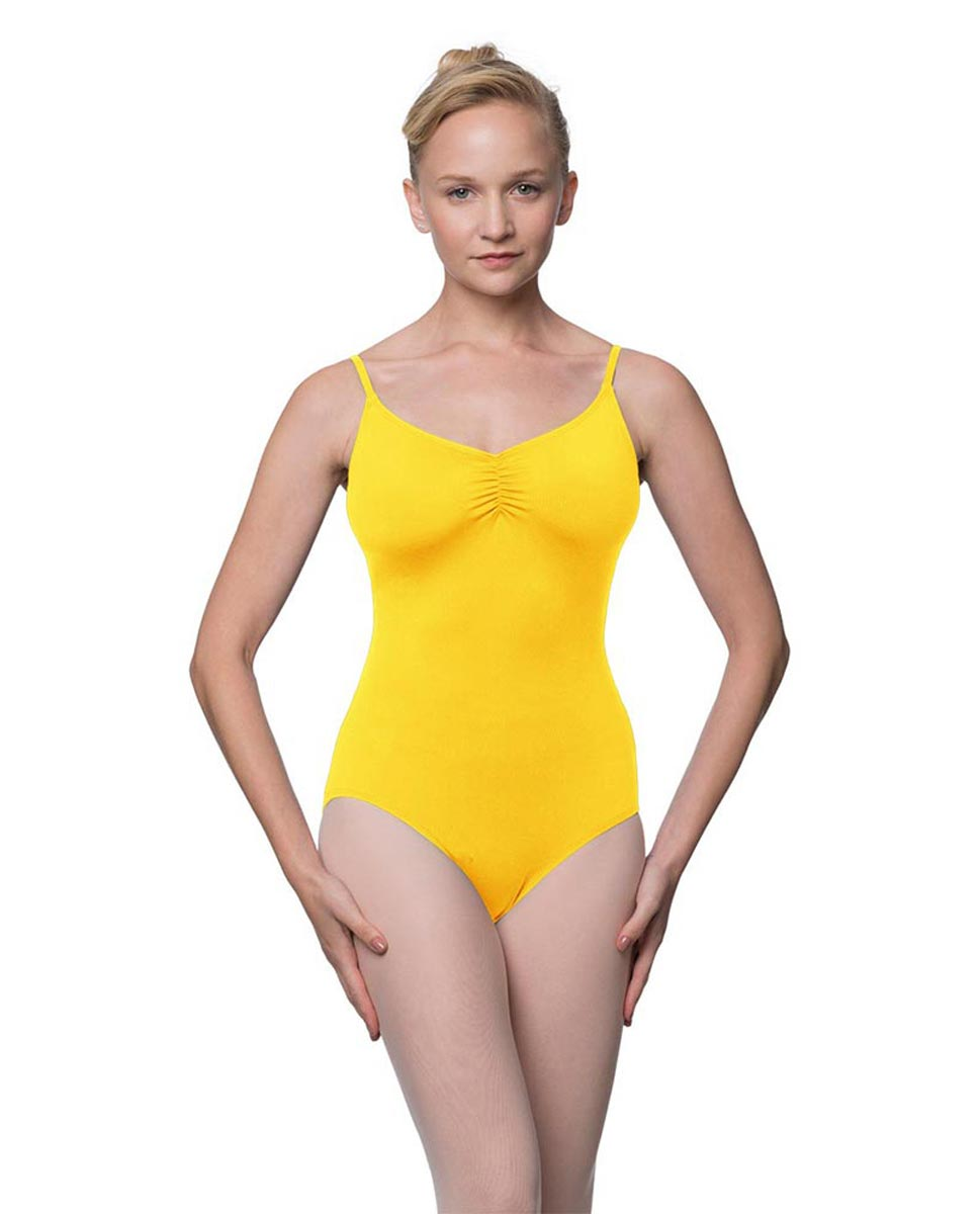 Camisole Microfiber Dance Leotard With Adjustable Straps Nadia YEL