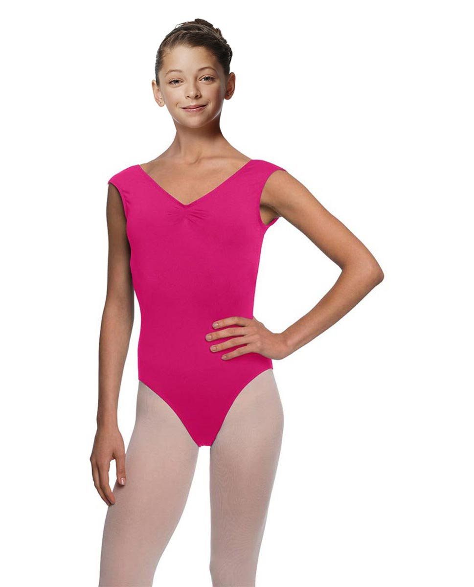 Girls Pinch Front Cap Sleeve Leotard Peyton FUC
