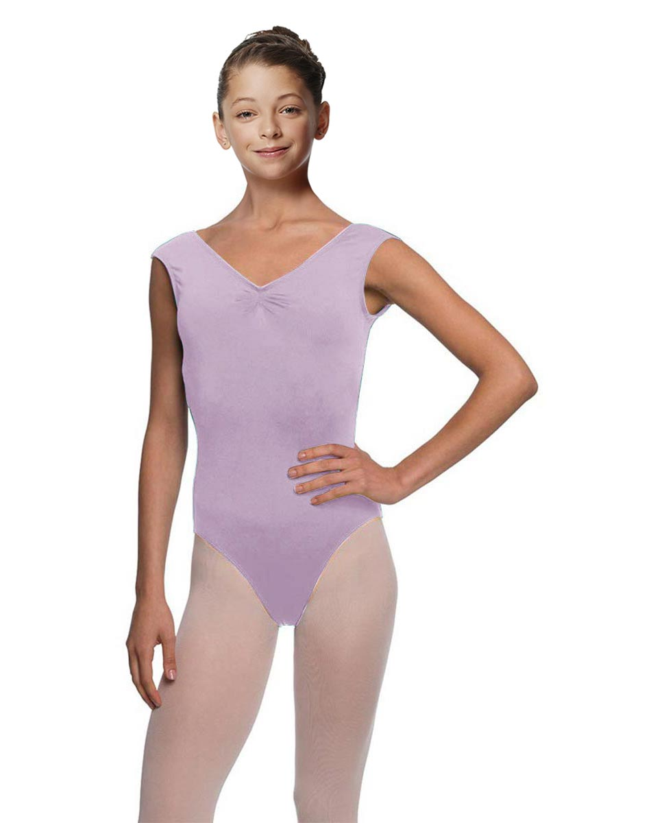 Girls Pinch Front Cap Sleeve Leotard Peyton LIL