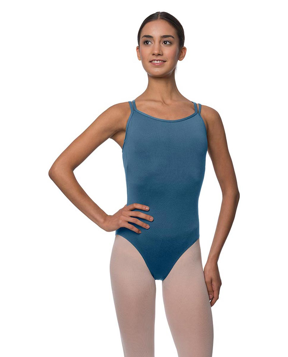 Double Strapped Camisole Microfiber Dance Leotard Nina BLUE