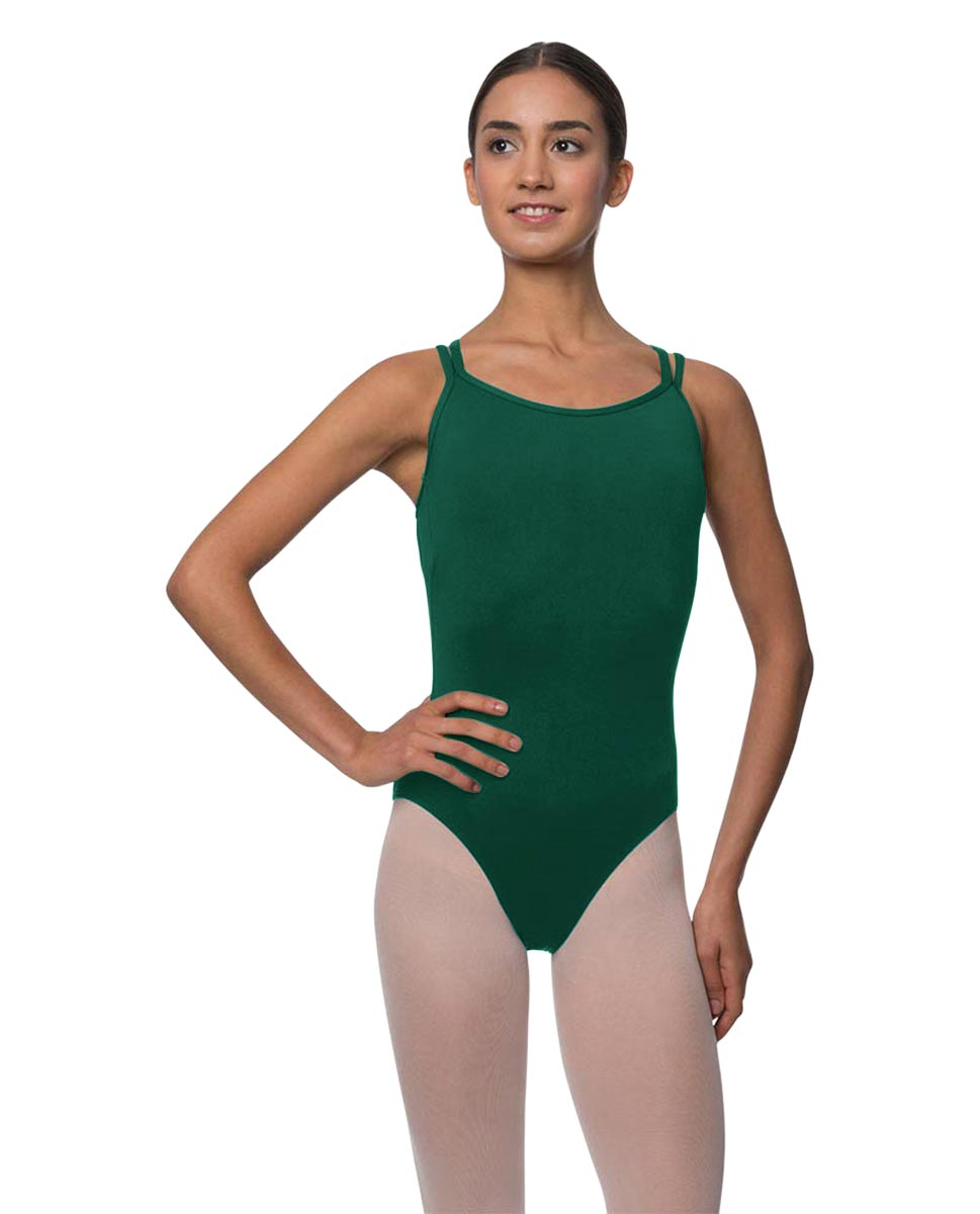 Double Strapped Camisole Microfiber Dance Leotard Nina DGREEN