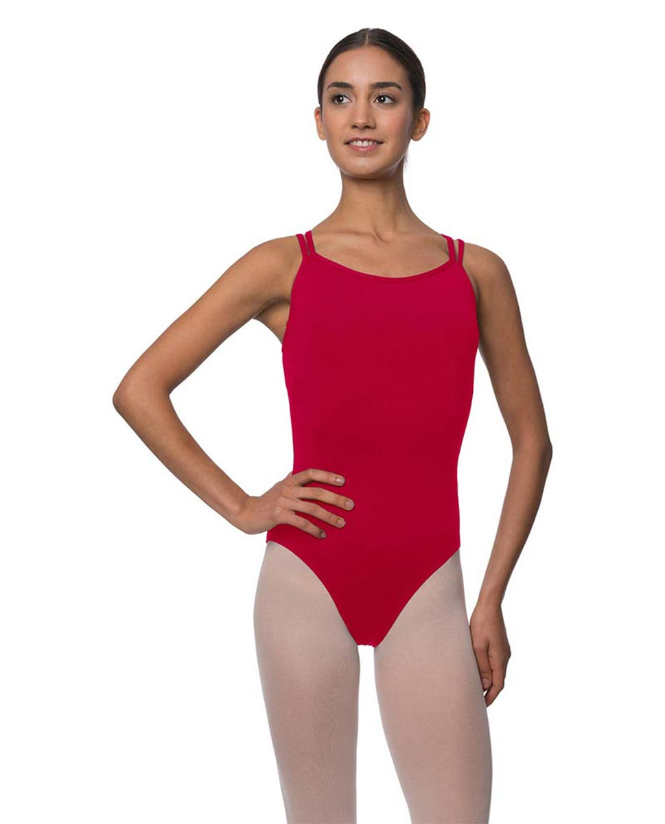 Double Strapped Camisole Microfiber Dance Leotard Nina DRED