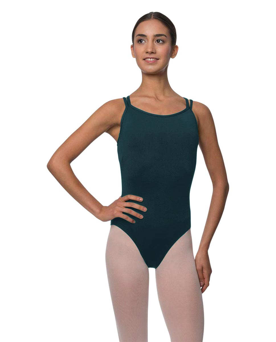 Double Strapped Camisole Microfiber Dance Leotard Nina DTEAL