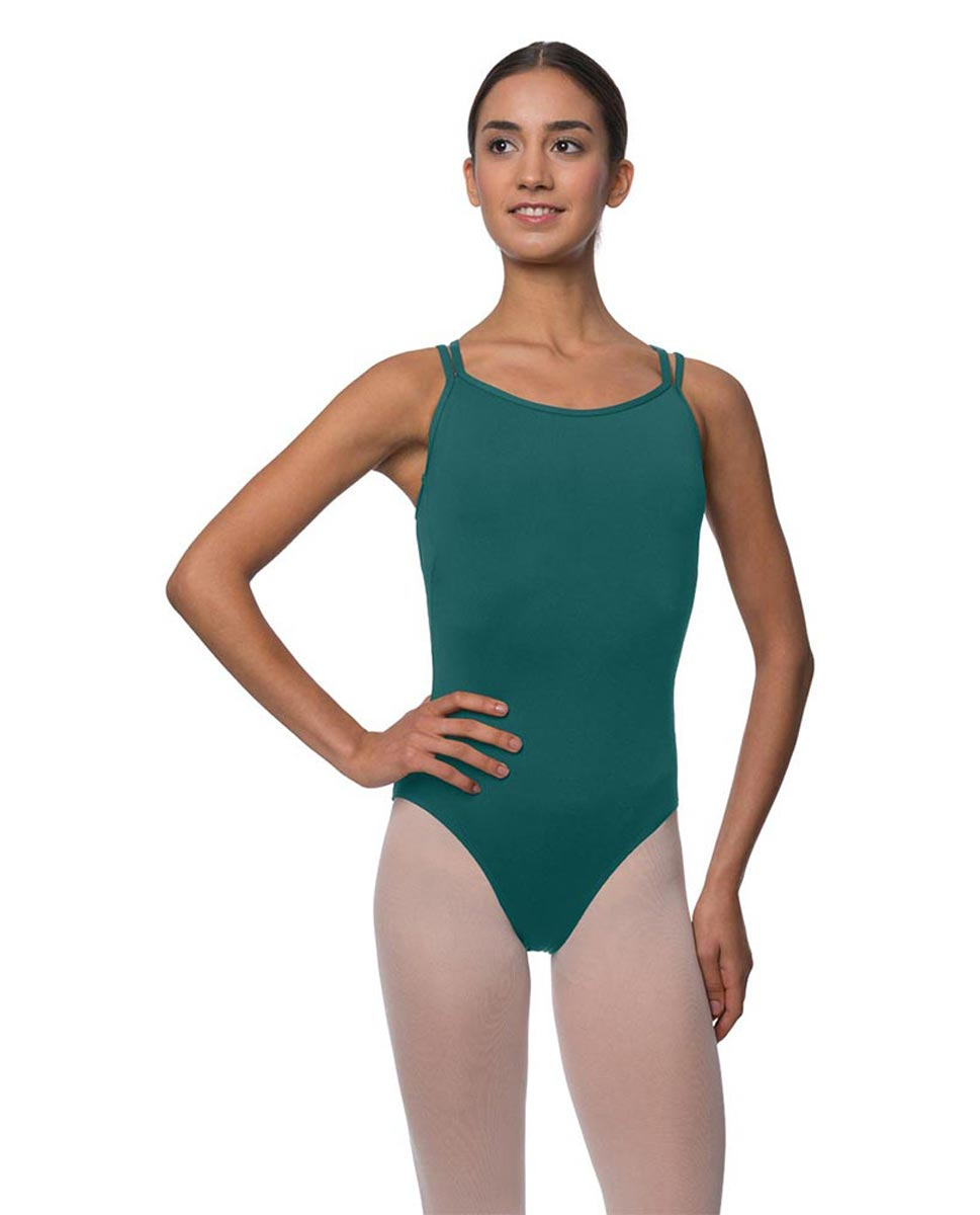 Double Strapped Camisole Microfiber Dance Leotard Nina TEA