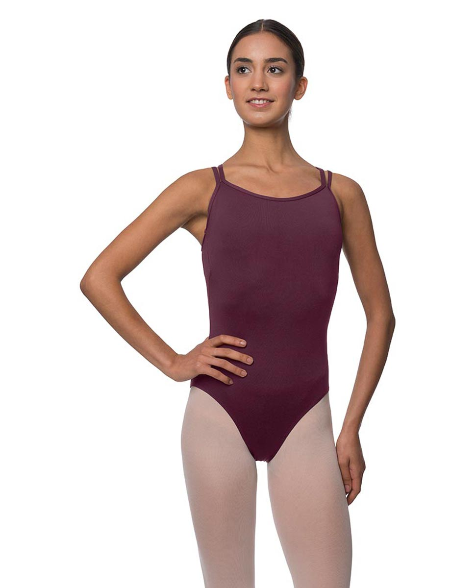 Double Strapped Camisole Microfiber Dance Leotard Nina WINE
