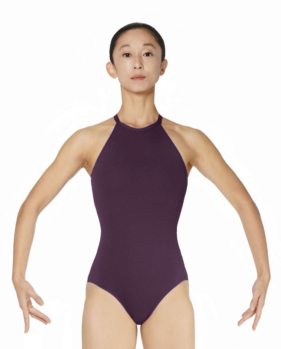 Halter Neck Microfiber Performance Leotard Ivana AUB