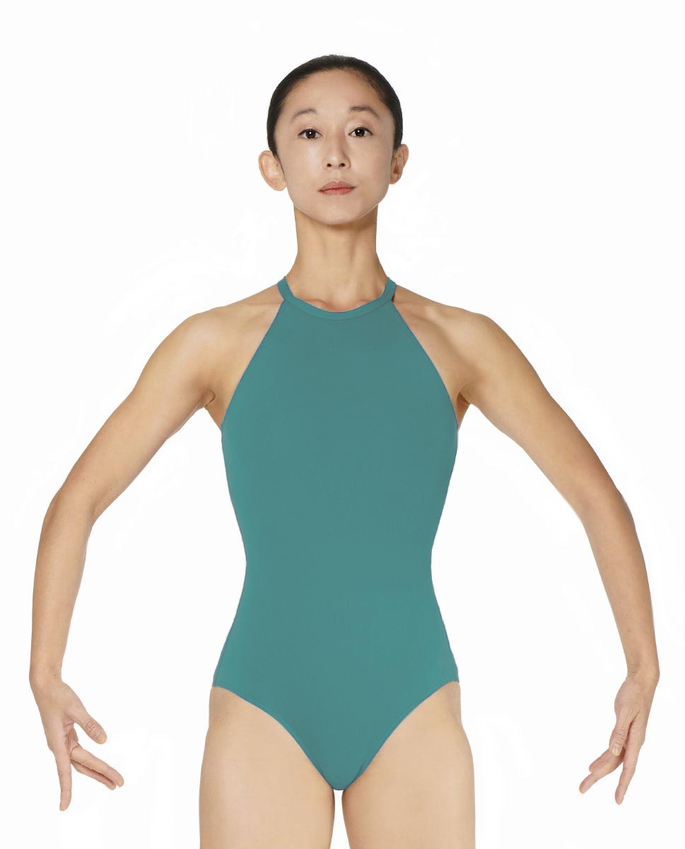 Halter Neck Microfiber Performance Leotard Ivana JAD