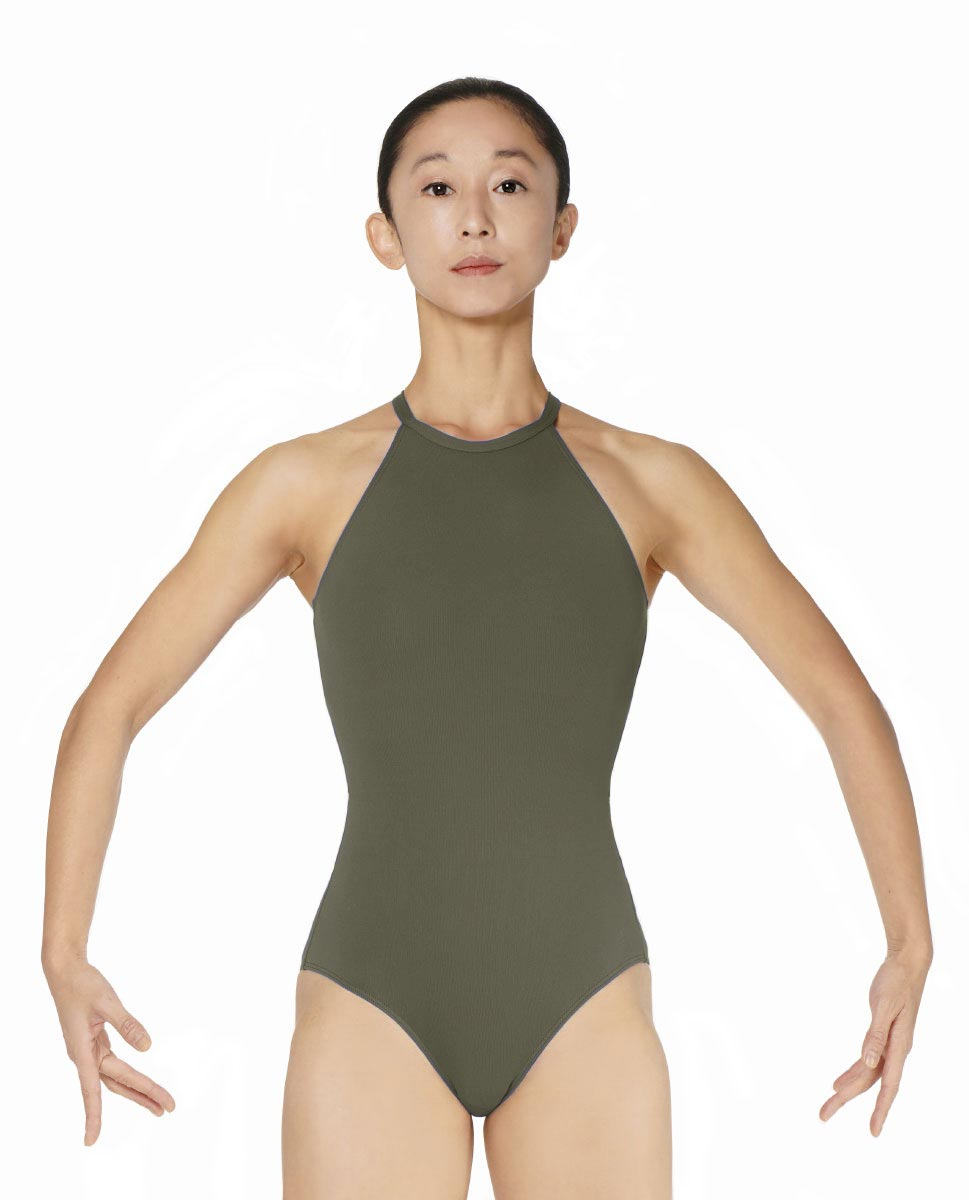 Halter Neck Microfiber Performance Leotard Ivana KHA