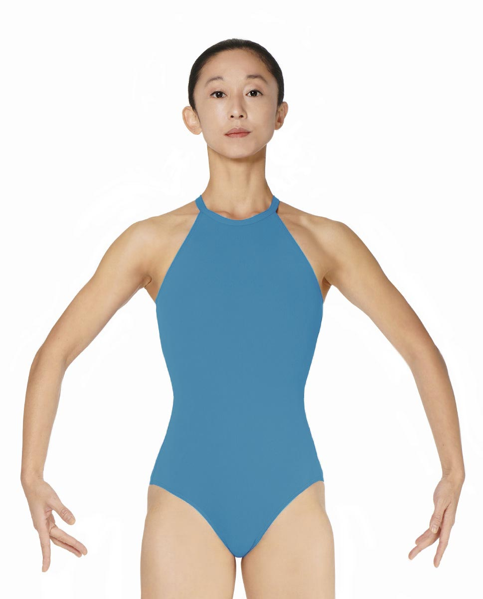 Halter Neck Microfiber Performance Leotard Ivana TUR