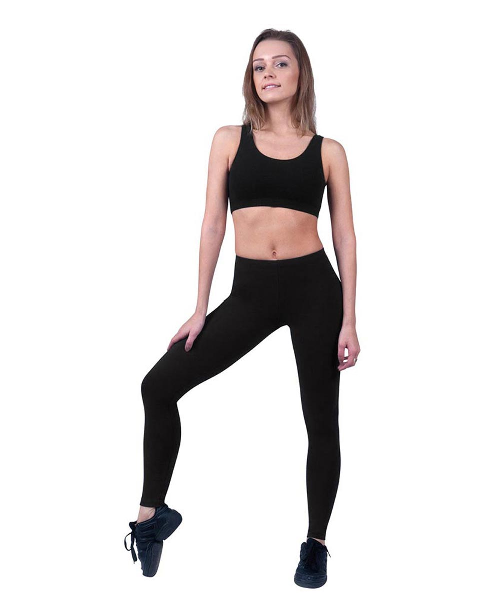 Brushed Cotton Ankle Dance Leggings Layla BLK