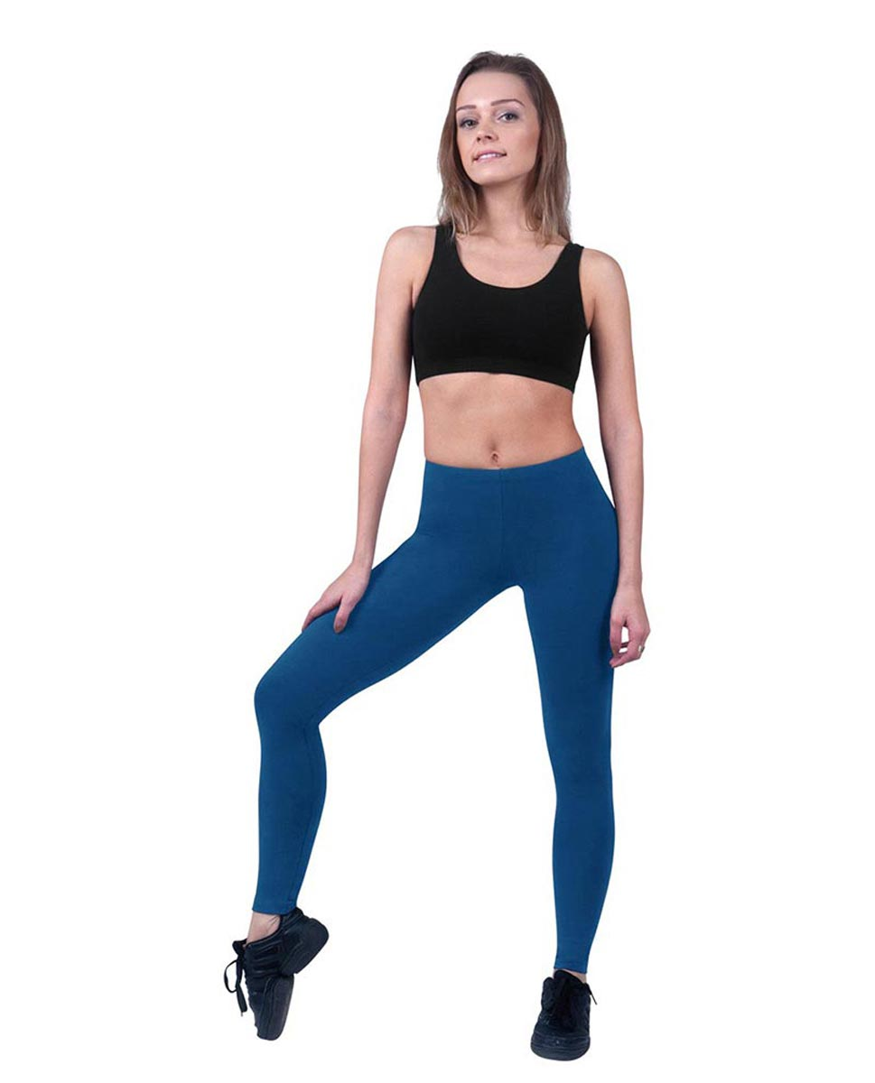 Brushed Cotton Ankle Dance Leggings Layla BLUE