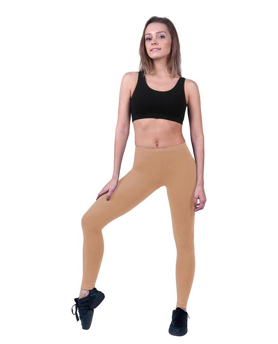 Brushed Cotton Ankle Dance Leggings Layla DNUD
