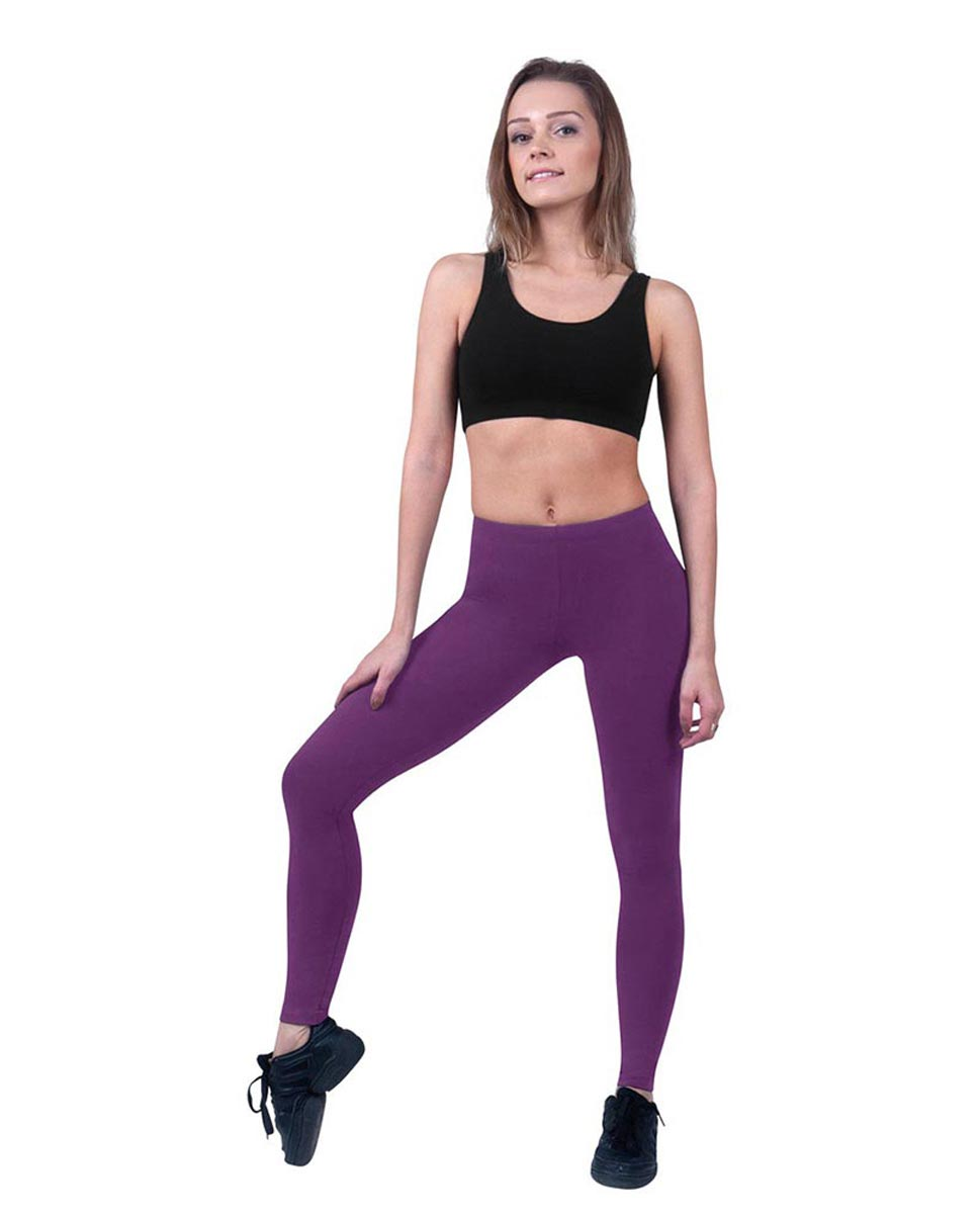 Brushed Cotton Ankle Dance Leggings Layla GRAP