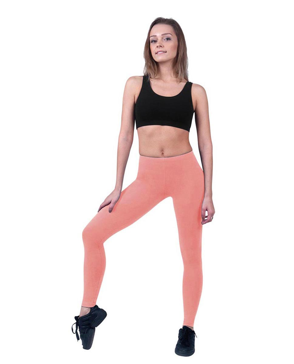 Brushed Cotton Ankle Dance Leggings Layla PEAC