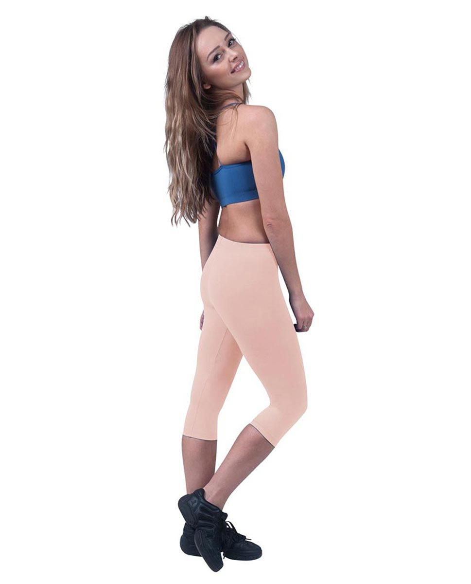 Brushed Cotton Capri Dance Leggings Rayna BPINK