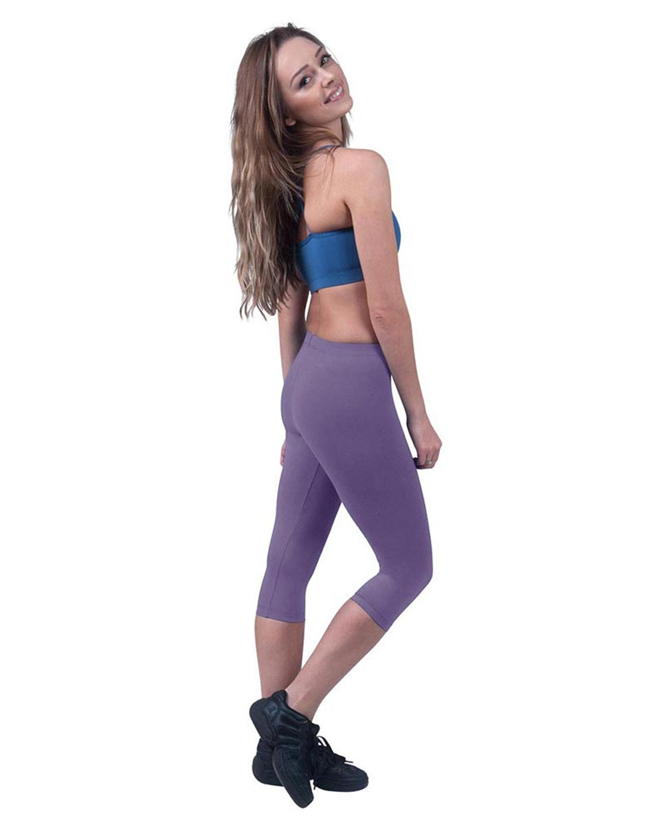 Brushed Cotton Capri Dance Leggings Rayna LAV