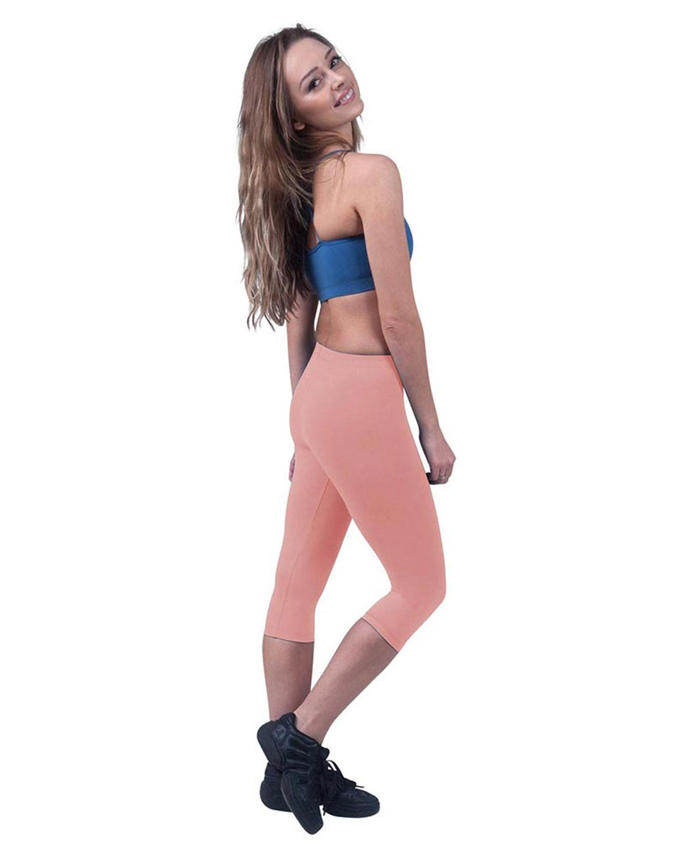 Brushed Cotton Capri Dance Leggings Rayna PEAC