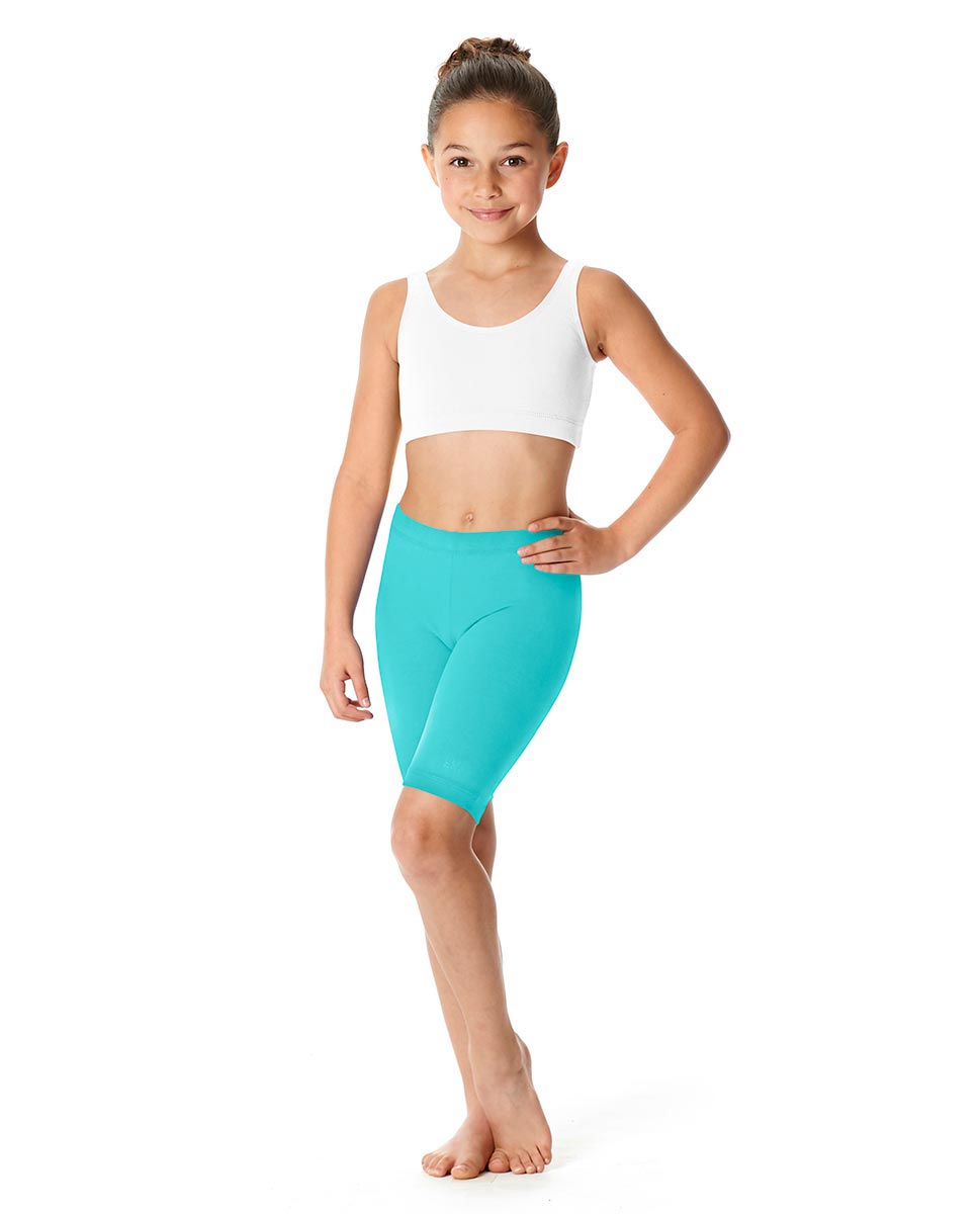 Girls Brushed Cotton Bike Shorts Trinity AQU