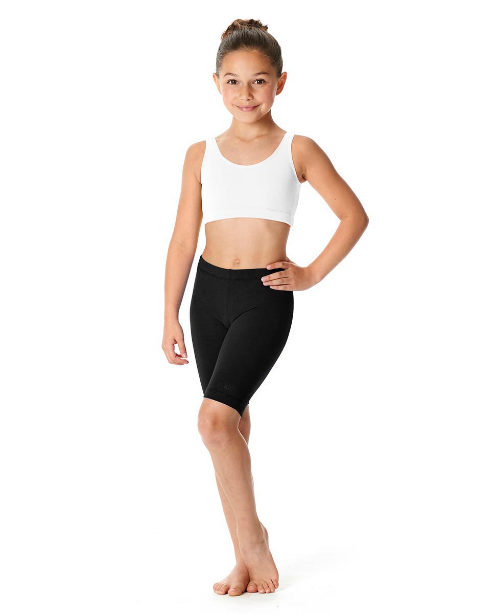Girls Brushed Cotton Bike Shorts Trinity BLK