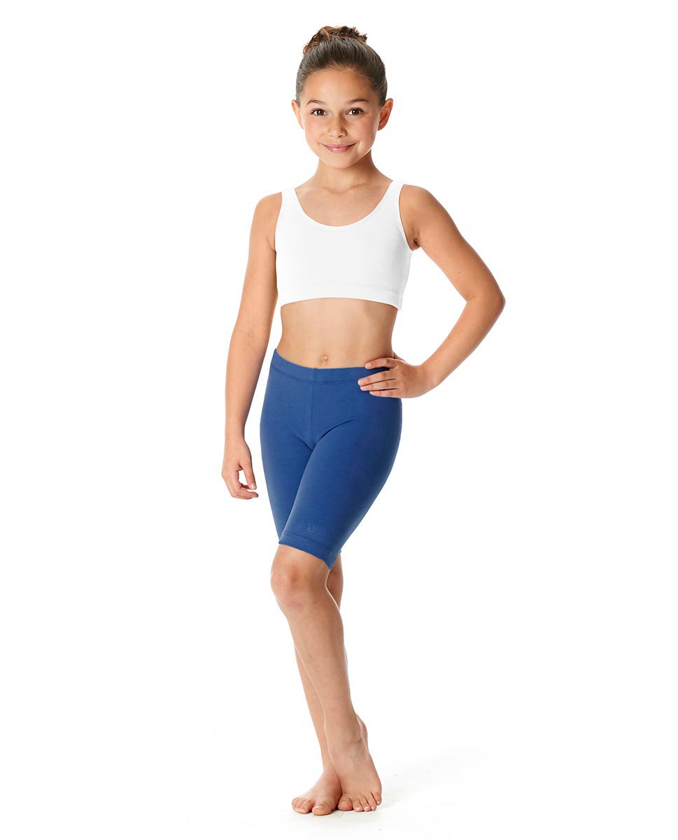 Girls Brushed Cotton Bike Shorts Trinity BLUE
