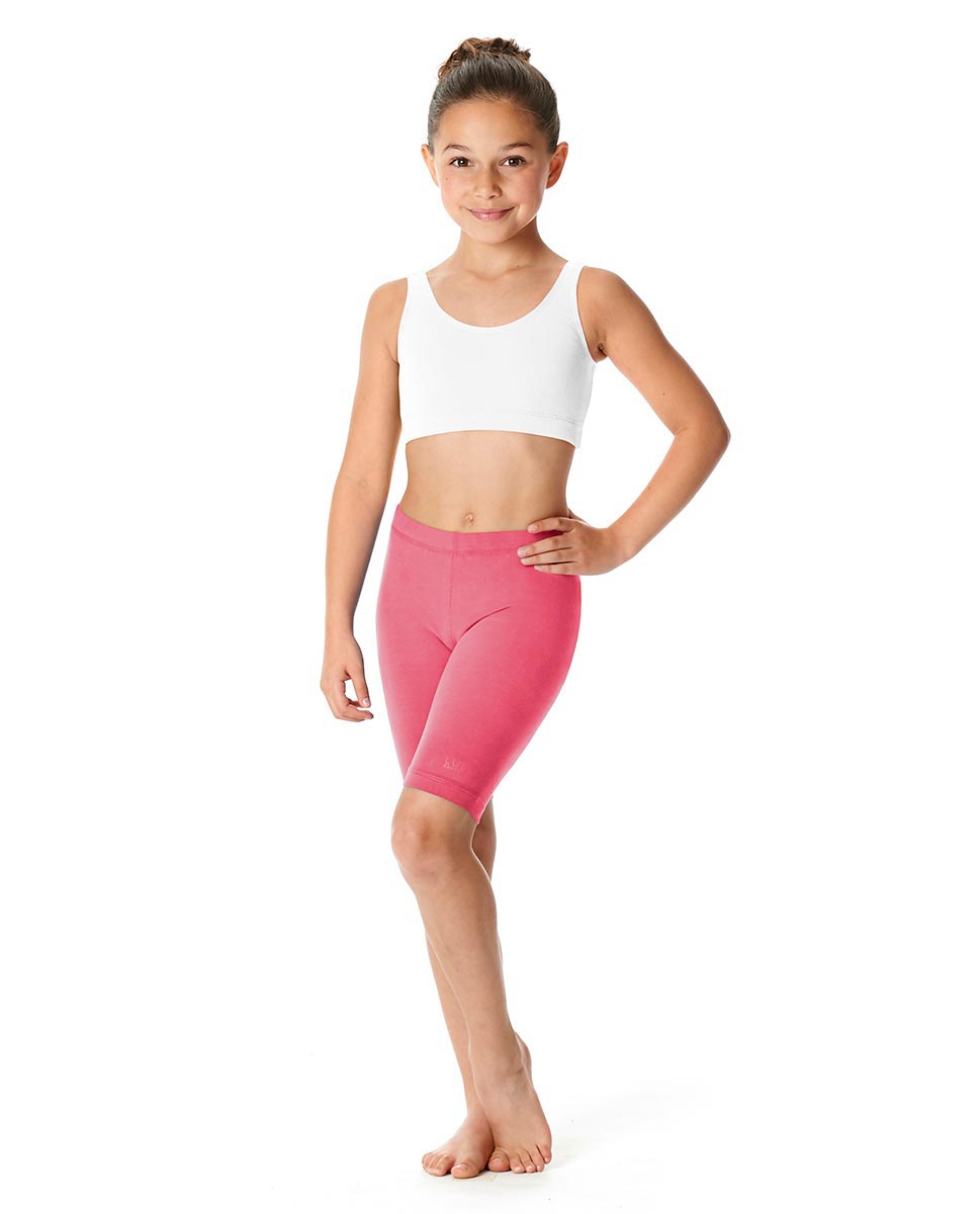 Girls Brushed Cotton Bike Shorts Trinity ROS