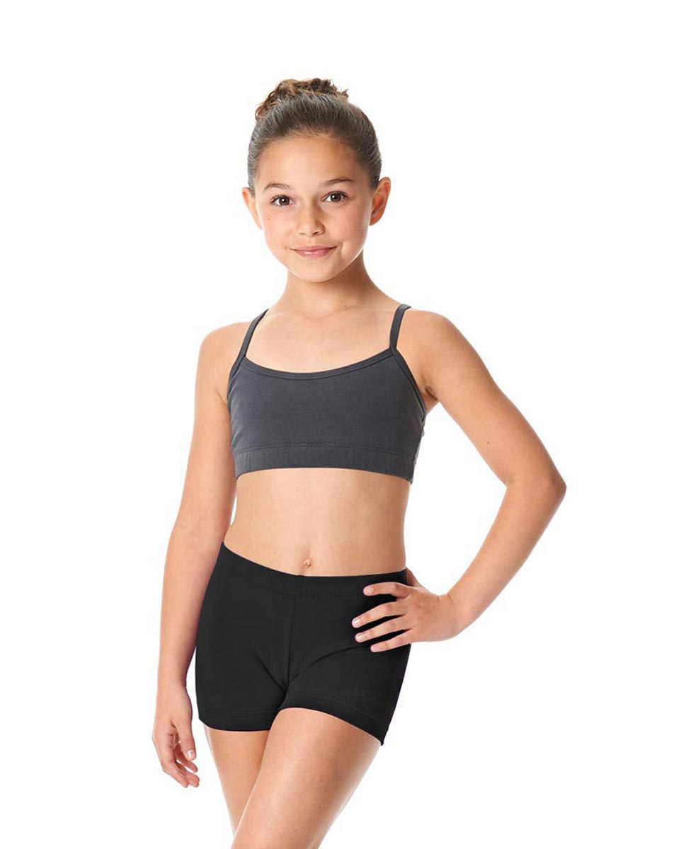 Girls Brushed Cotton Dance Shorts Venus BLK