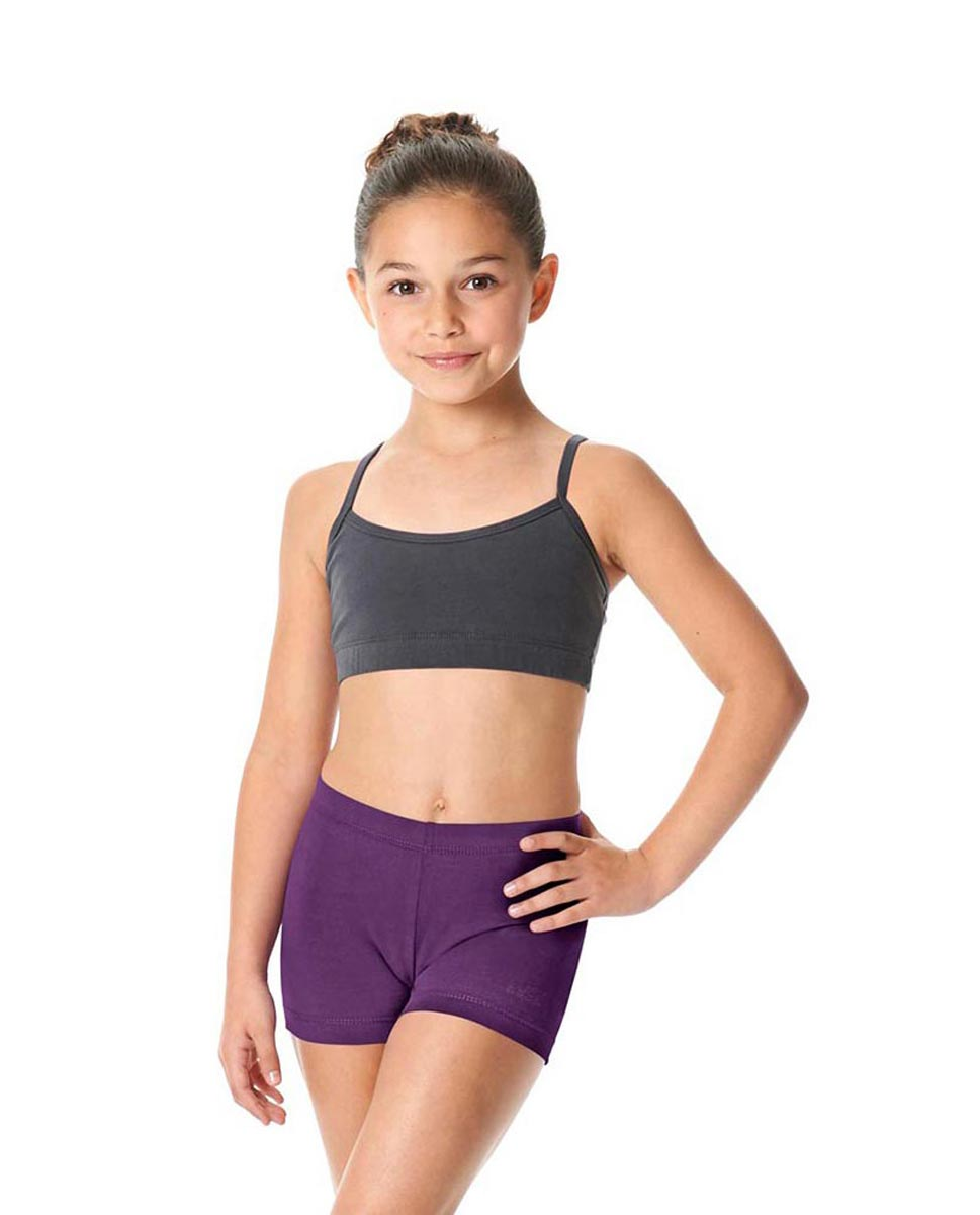 Girls Brushed Cotton Dance Shorts Venus GRAP