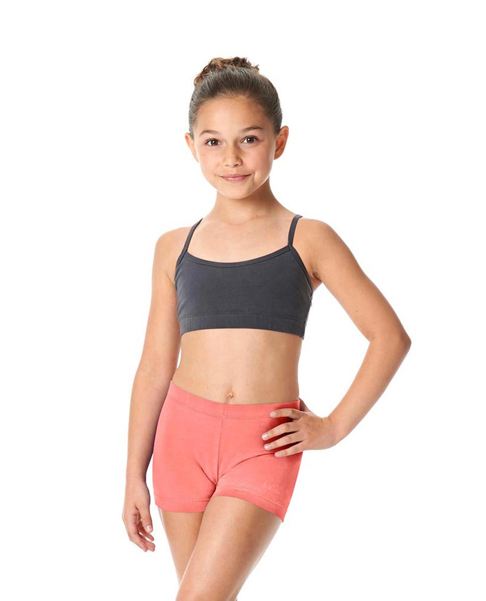 Girls Brushed Cotton Dance Shorts Venus PEAC