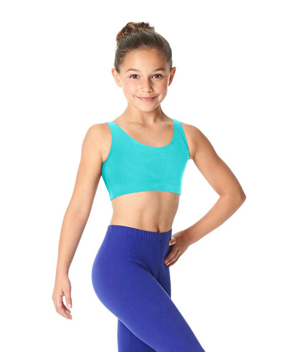 Girls Brushed Cotton Tank Dance Bra Beatrice AQU