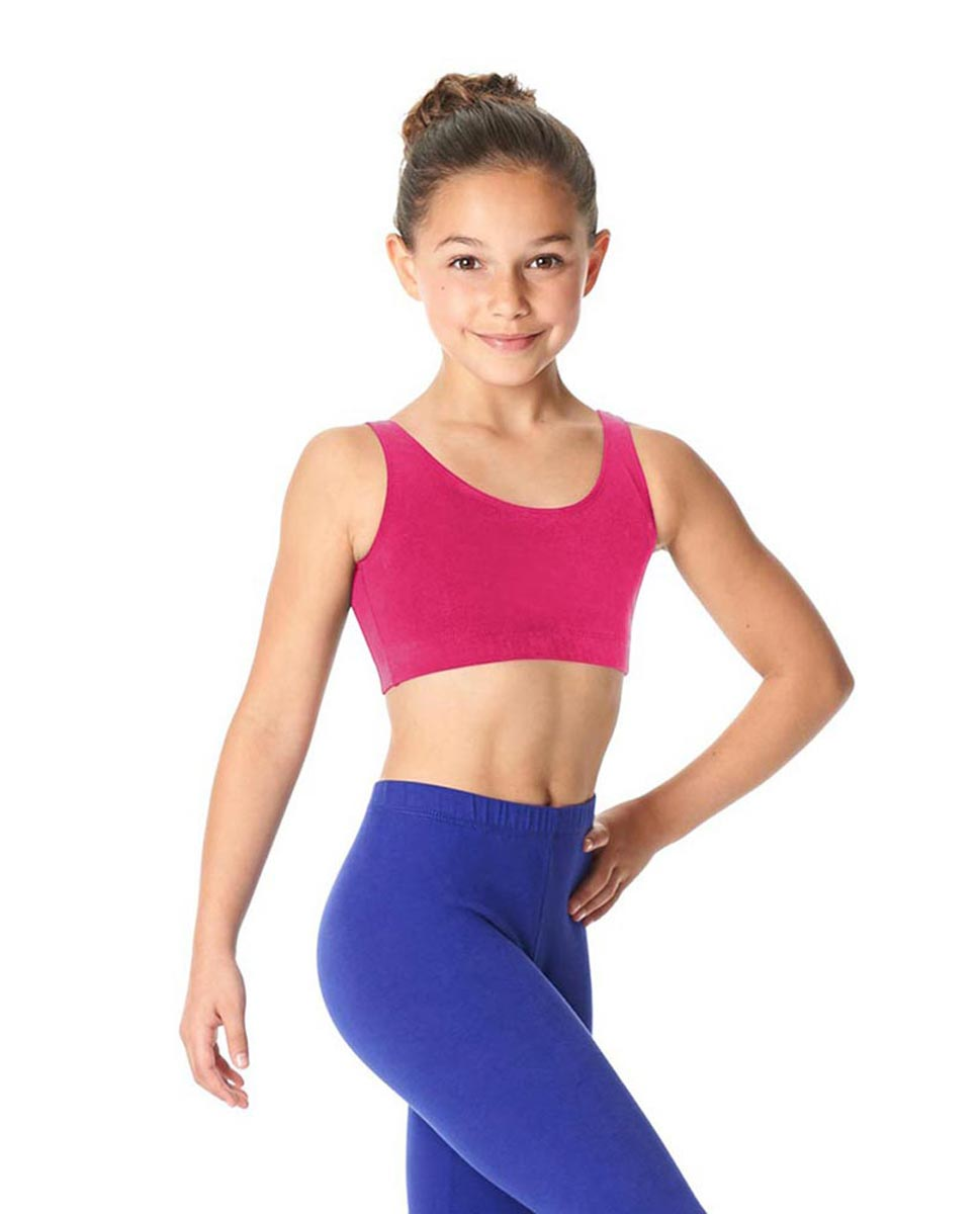 Girls Brushed Cotton Tank Dance Bra Beatrice FUC