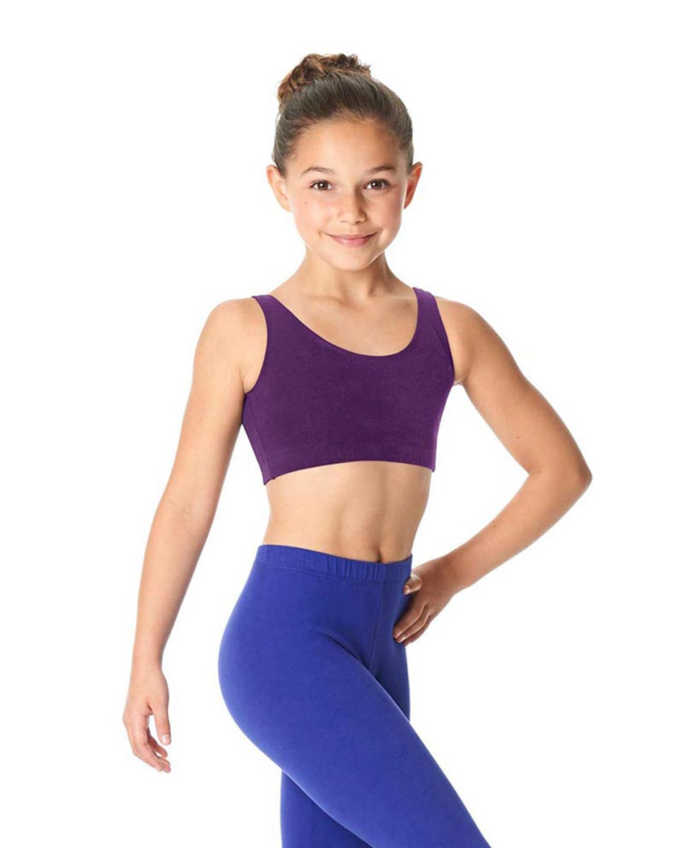 Girls Brushed Cotton Tank Dance Bra Beatrice GRAP