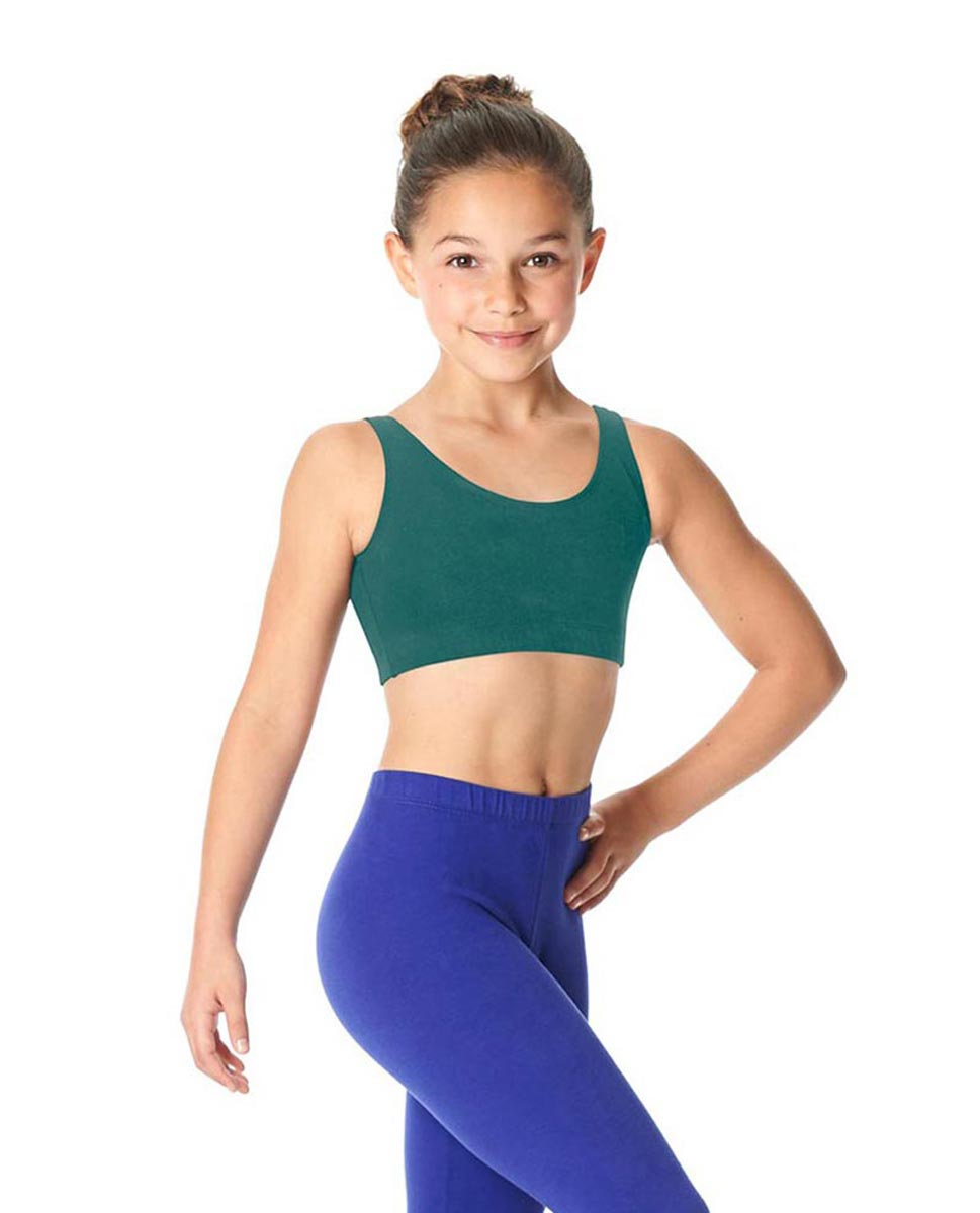 Girls Brushed Cotton Tank Dance Bra Beatrice TEA