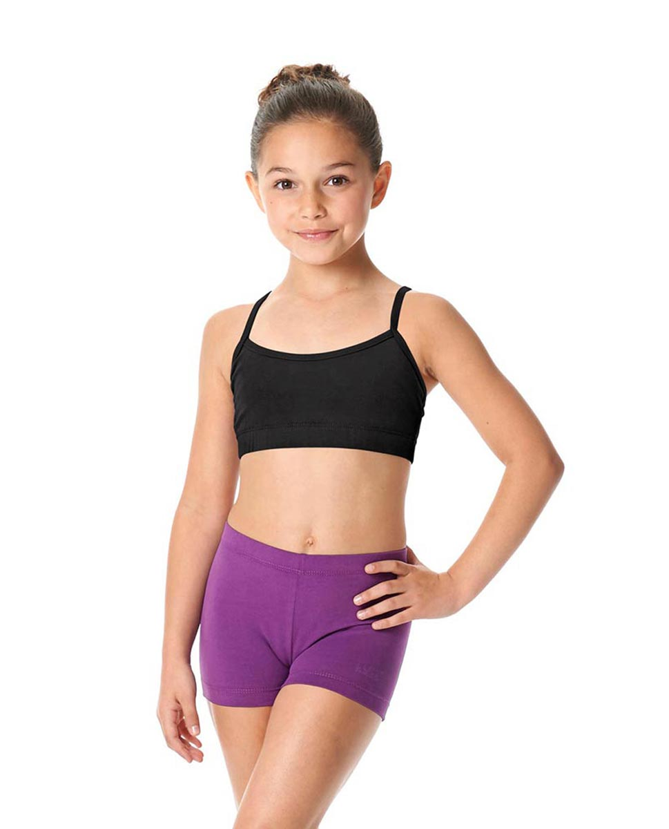 Girls Brushed Cotton Camisole Dance Bra Top Evelin BLK