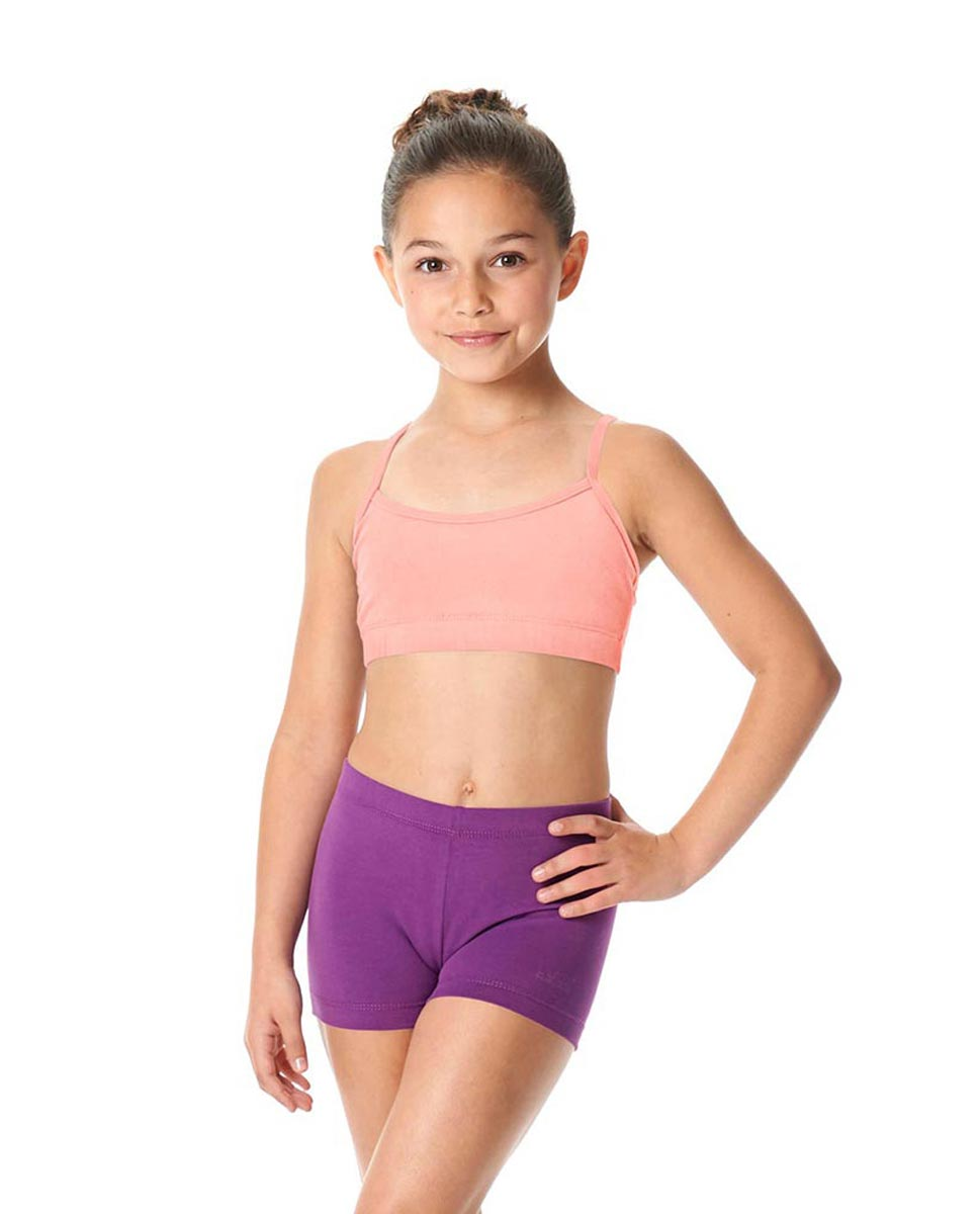 Girls Brushed Cotton Camisole Dance Bra Top Evelin BPINK