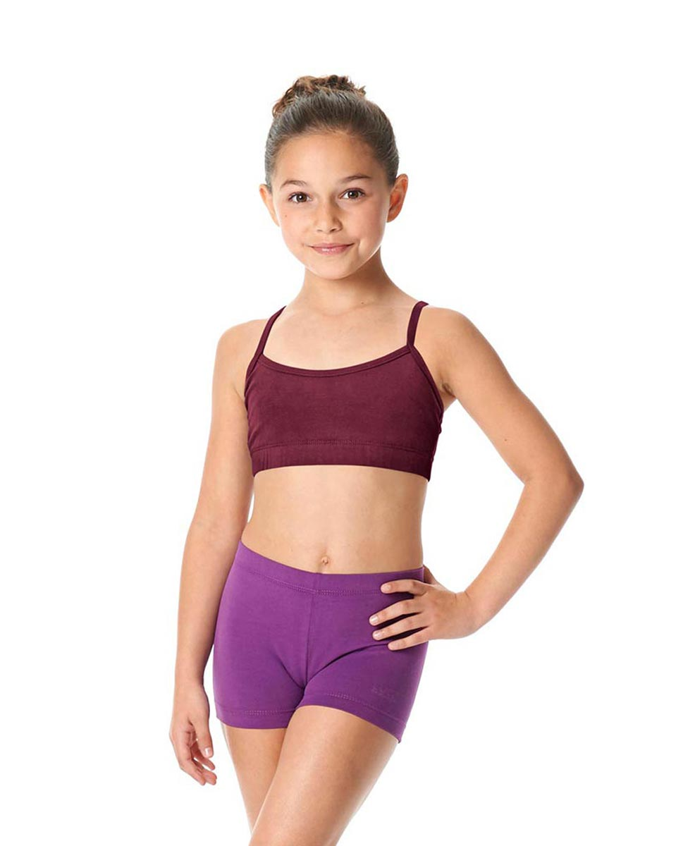Girls Brushed Cotton Camisole Dance Bra Top Evelin BUR