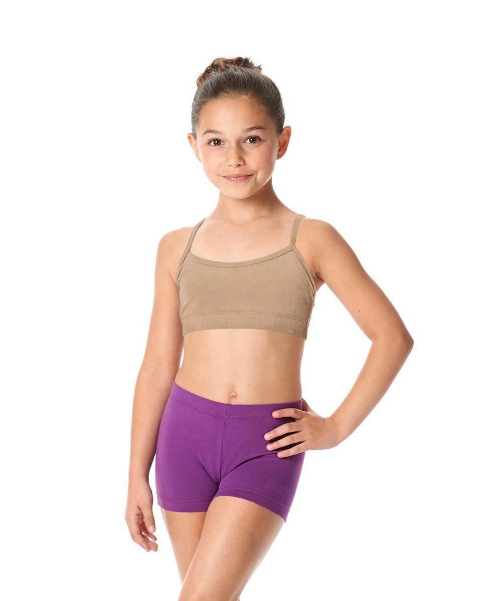 Girls Brushed Cotton Camisole Dance Bra Top Evelin DNUD