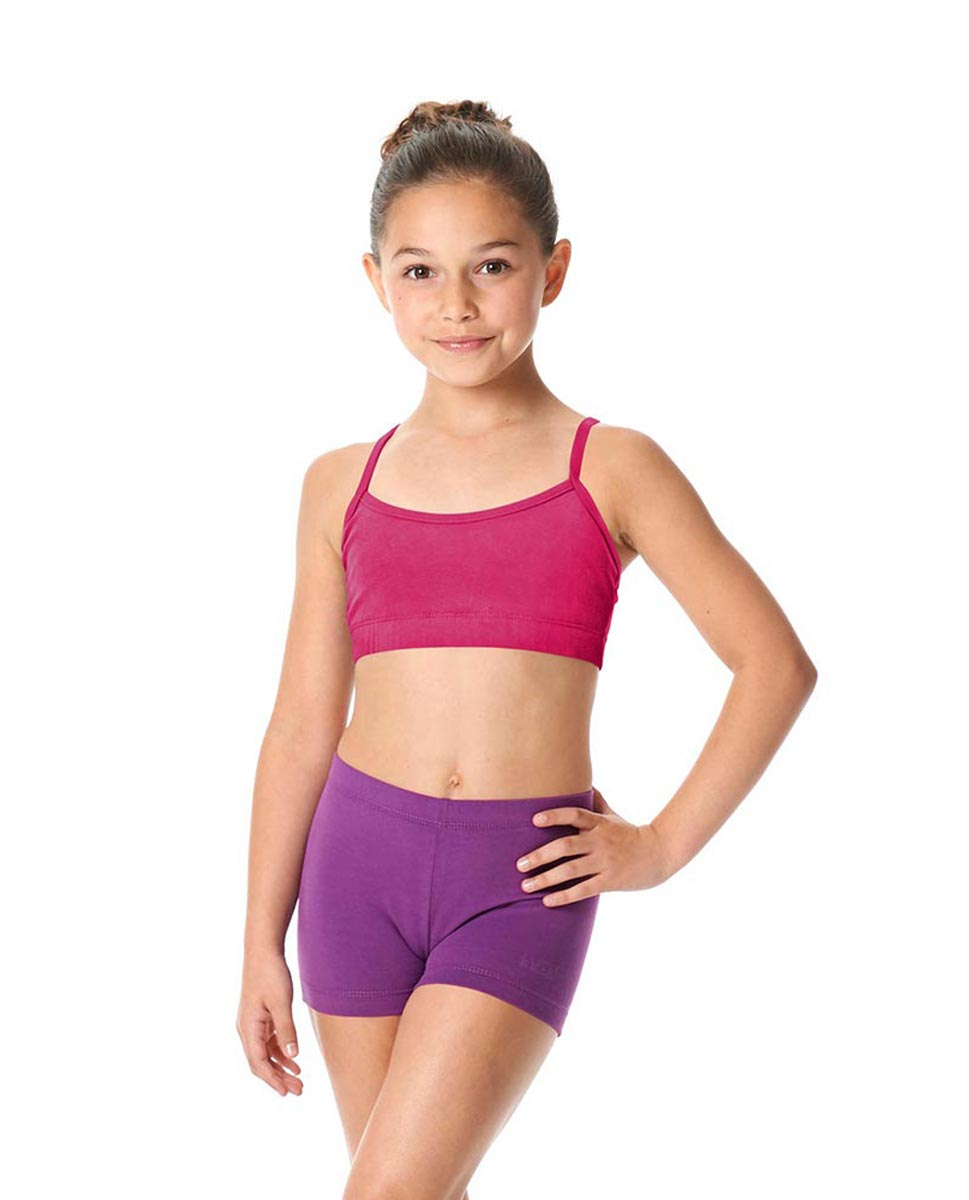 Girls Brushed Cotton Camisole Dance Bra Top Evelin FUC