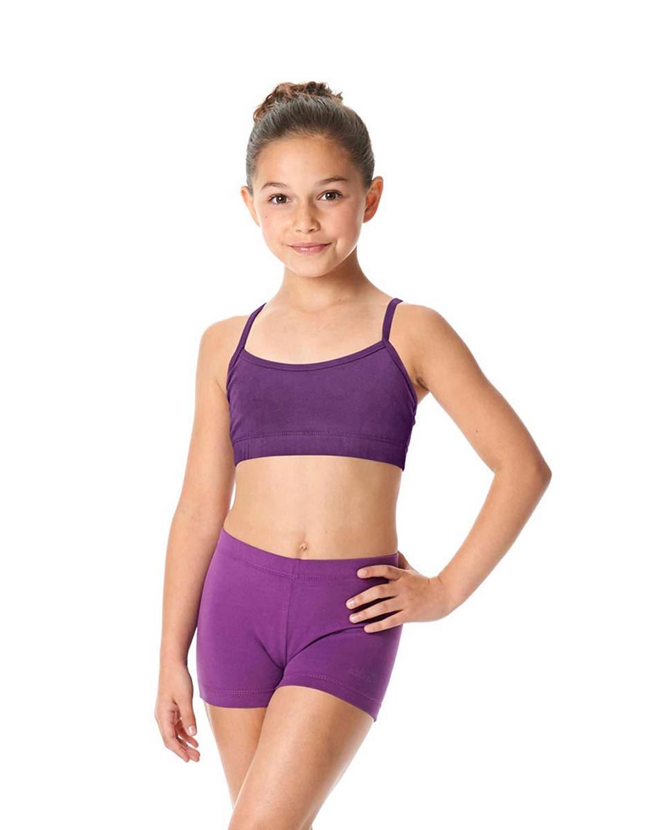 Girls Brushed Cotton Camisole Dance Bra Top Evelin GRAP
