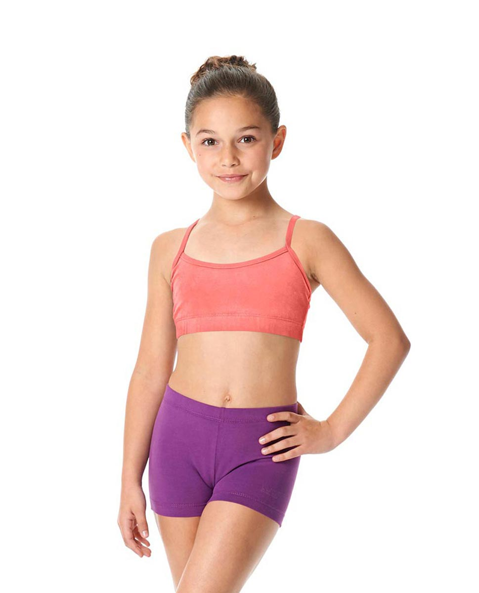 Girls Brushed Cotton Camisole Dance Bra Top Evelin PEAC