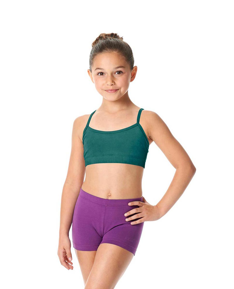 Girls Brushed Cotton Camisole Dance Bra Top Evelin TEA